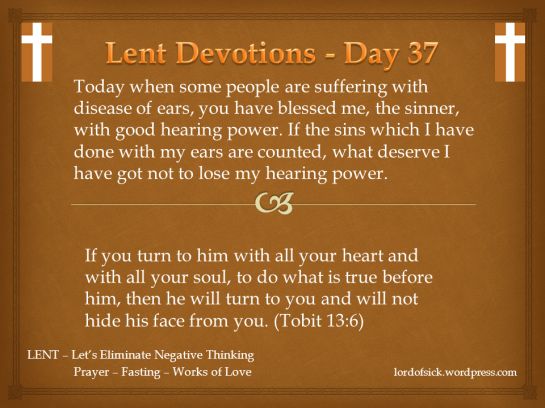 Lent Devotion Day 37
